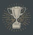 vintage label hand drawn sport trophy winners vector image