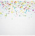 colorful confetti on vector image