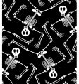 skeleton pattern vector image