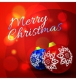 Christmas balls on abstract bokeh background vector image