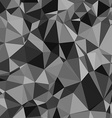 Abstract black and white triangle pattern vector image vector image