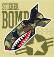 air bomb flying tiger shark mouth sticker vinyl vector image vector image