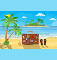 banner beautiful beach by the sea vector image vector image