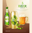 beer metal can poster vector image vector image