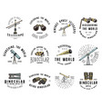 binocular logo emblem or label astronomical vector image vector image