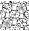 black and white lemons for coloring books vector image vector image