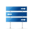 Blank traffic sign with white arrow vector image vector image