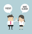 business people high five yes we can vector image vector image