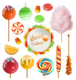 Candy set swirl caramel cotton candy sweet