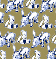 cartoon donkey bear background funny style vector image vector image