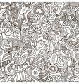 Cartoon doodles hand drawn holidays seamless vector image vector image