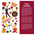 casino poker game poster vector image vector image