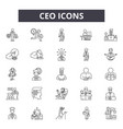 ceo line icons signs set outline vector image vector image