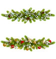 christmas fir decoration with beads vector image