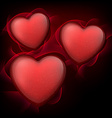 Classical red hearts with stars vector image