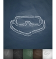 climbing glasses icon Hand drawn vector image vector image