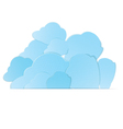 clouds in pocket vector image vector image