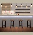 coffee shop interior realistic background vector image vector image