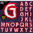Crumpled paper alphabet vector image vector image