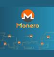cryptocurrency monero circuit concept background vector image
