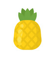 cute pineapple exotic fruit isolated colorful vector image vector image