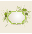 Decorative green floral background vector image vector image