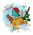 Discover Japan Poster vector image vector image