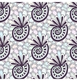 Doodling seamless pattern with seashells vector image vector image