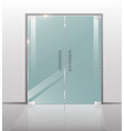 double glass doors to the mall or office vector image
