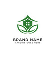 eco house logo design inspiration vector image
