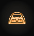 egyptian temple abu simbel icon in glowing neon vector image
