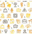 electricity signs seamless pattern background vector image vector image