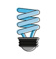 energy saving lightbulb eco friendly icon image vector image vector image
