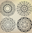 Ethnic mandalas drawn by hand vector image vector image