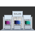 exhibition stand vector image vector image