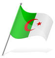 flag of Algerian vector image