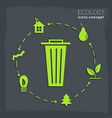 flat cycle eco infographic background concept vector image