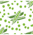 food fresh delicious peas seamless pattern vector image