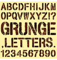 Grunge Stencil Letters vector image vector image
