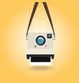 hanging instant camera photo vector image vector image