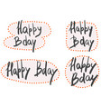 happy birthday hand written text on pink vector image vector image