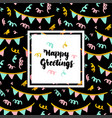 happy greetings lettering concept vector image