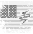 Happy Independence Day festive Ribbon on USA Flag vector image