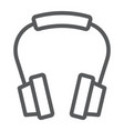 headphones line icon earphone and music vector image vector image