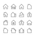 house icon web symbols buildings interior garage vector image vector image