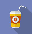 Icon of coffee glass Flat style vector image vector image