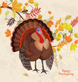 Invitation card with beautiful turkey and colorful