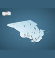 isometric 3d chad map concept vector image vector image