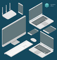isometric busies office vector image vector image