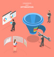 isometric flat concept of conversion rate vector image vector image